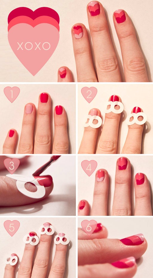 Plastic studs on pink nails! Great combo indeed!