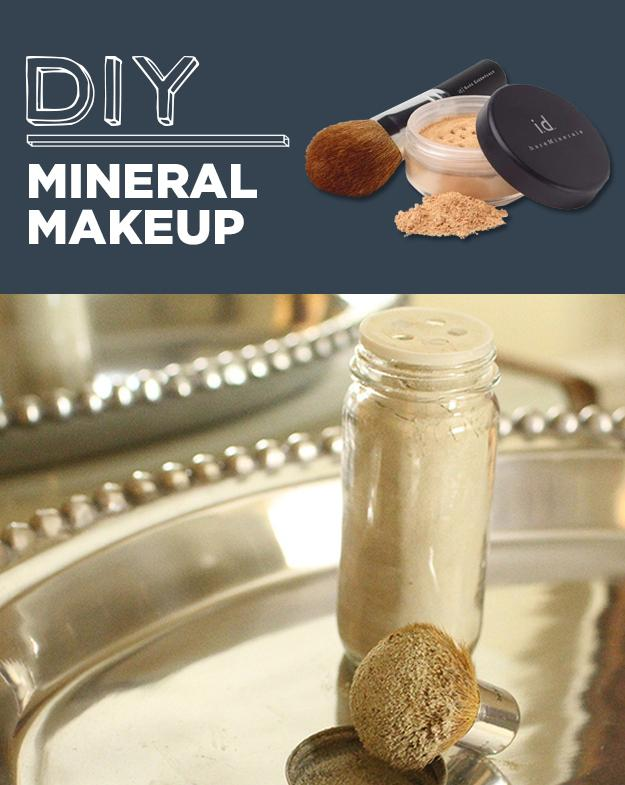 27. DIY Bare Minerals In a small bowl combine 1 part cornstarch, 1 part green clay&a bit of cocoa.  1 part in a 1 to 1 recipe depends on how much you are making. If you want 1 cup, each part would be half a cup.  If you are using a spice jar like in the picture, then about half a jar of each