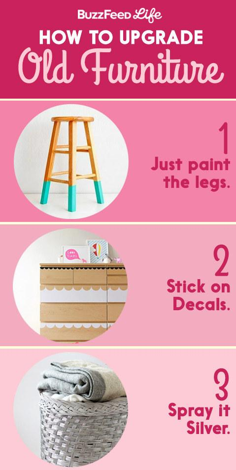 4. A few tricks to upgrade and personalize your furniture: