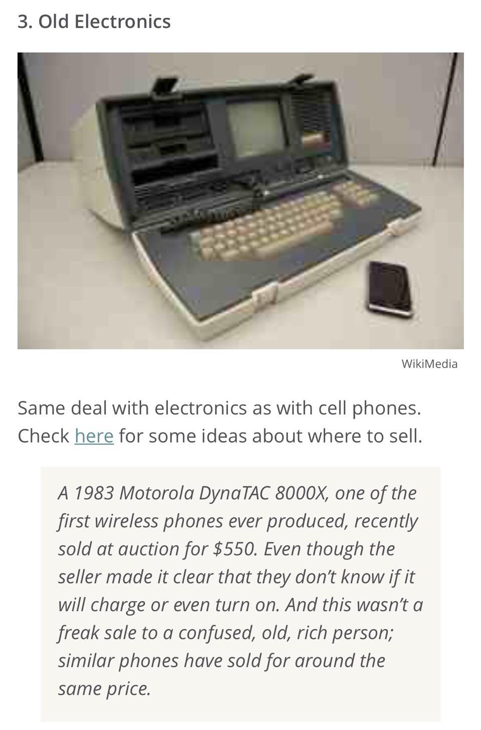 3. Old Electronics