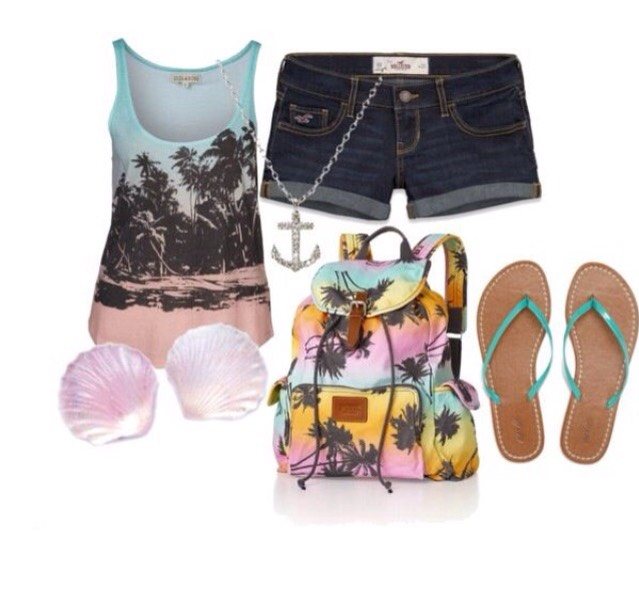 Summer Palm Tree Styled Outfit For The Beach