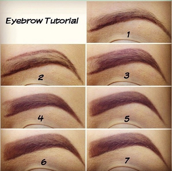 Tip on filling in eyebrows