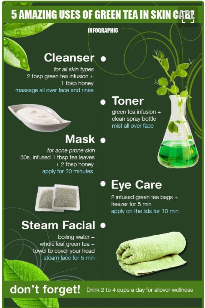 Other ways you can use green tea in your beauty routine :)