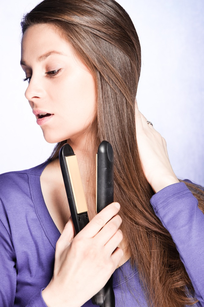 Try your best to not use a lot of heat on your hair it damages it and you get split ends.