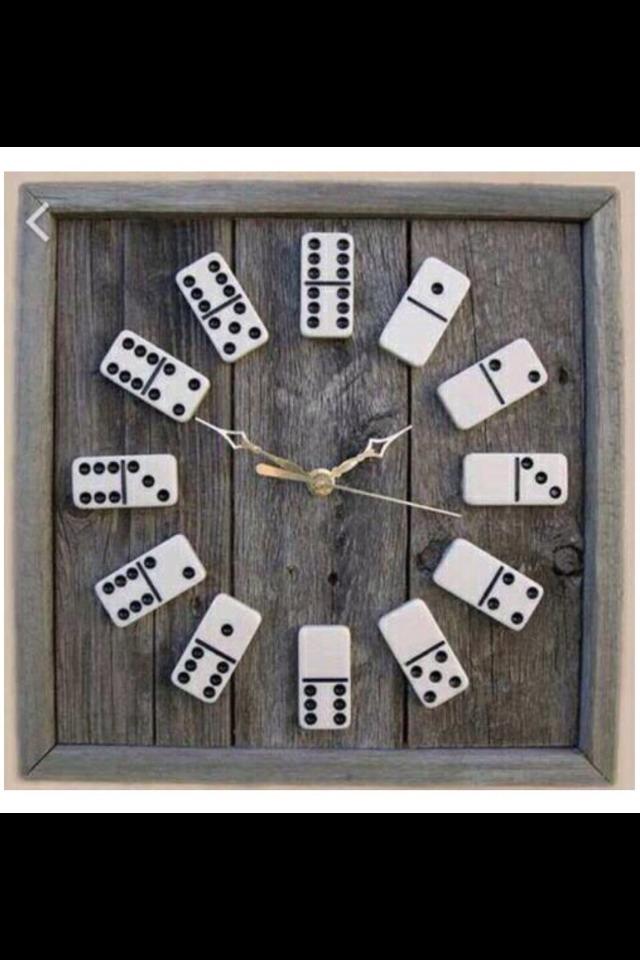 So cute domino clock.