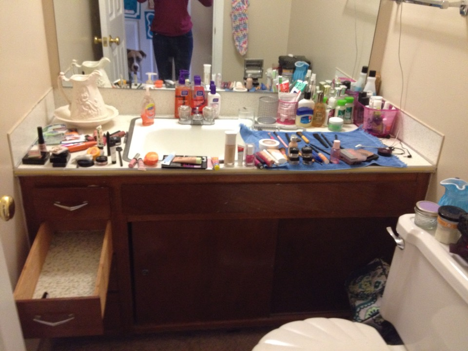 Take all of the makeup out of your drawer!