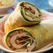 Turkey leftover wraps