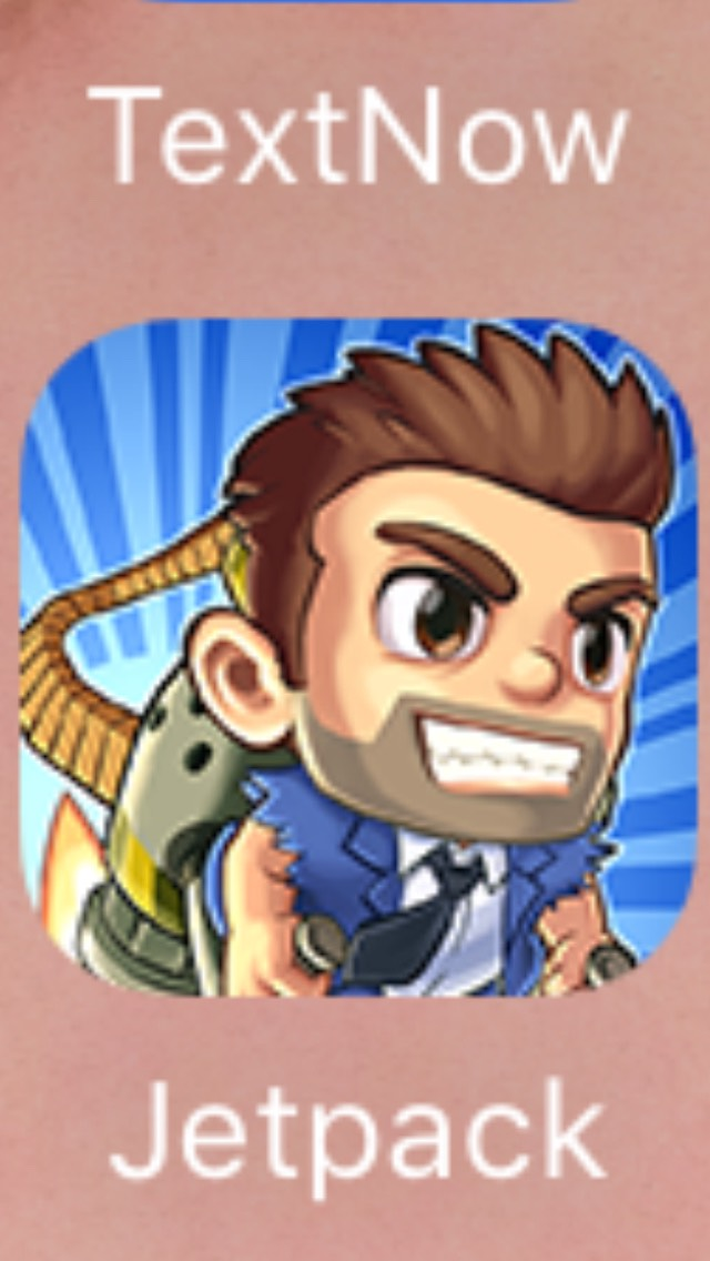 Jetpack Joyride JJ is almost like subway surfers. You are this little dude on a jet pack, and you ride around and dodge obstacles and collect coins.