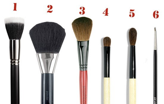 brush number 2 is the type of brush i would use. i prefer the mac one but any one is okay from like and brand
