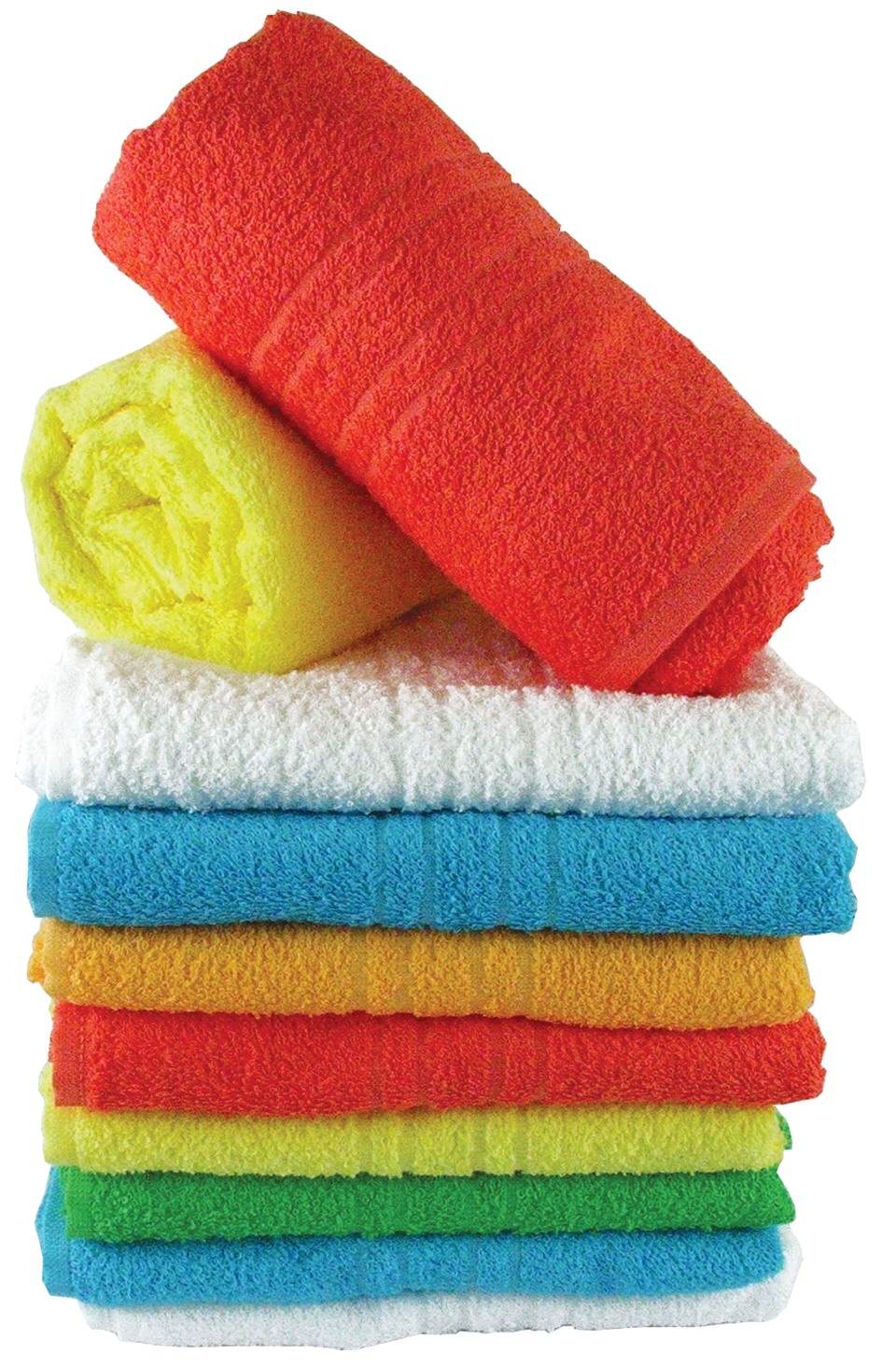 When washing new towels, always add a cup of salt to the water. The salt will set the color so the towels won't fade as quickly.