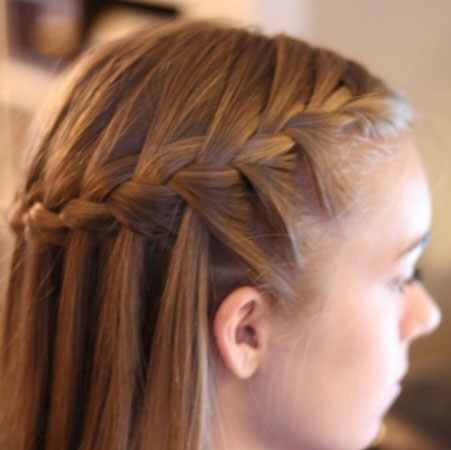2. Waterfall braid