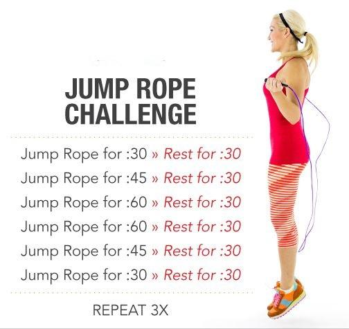 Day 5: The Jump Rope Challenge  Remember the jump rope challenge in gym class? Well, this challenge will bring you back to fun days skipping rope and it will definitely get you into shape.
