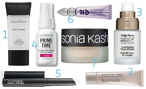 Use your makeup primers at night