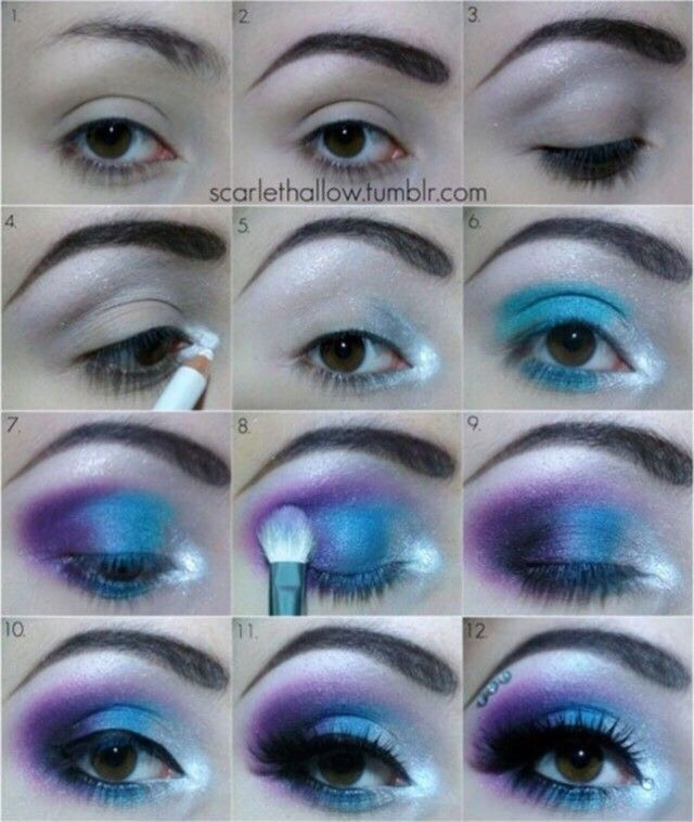 Galaxy Eye Makeup Tutorial - Eye Makeup Tips 2017