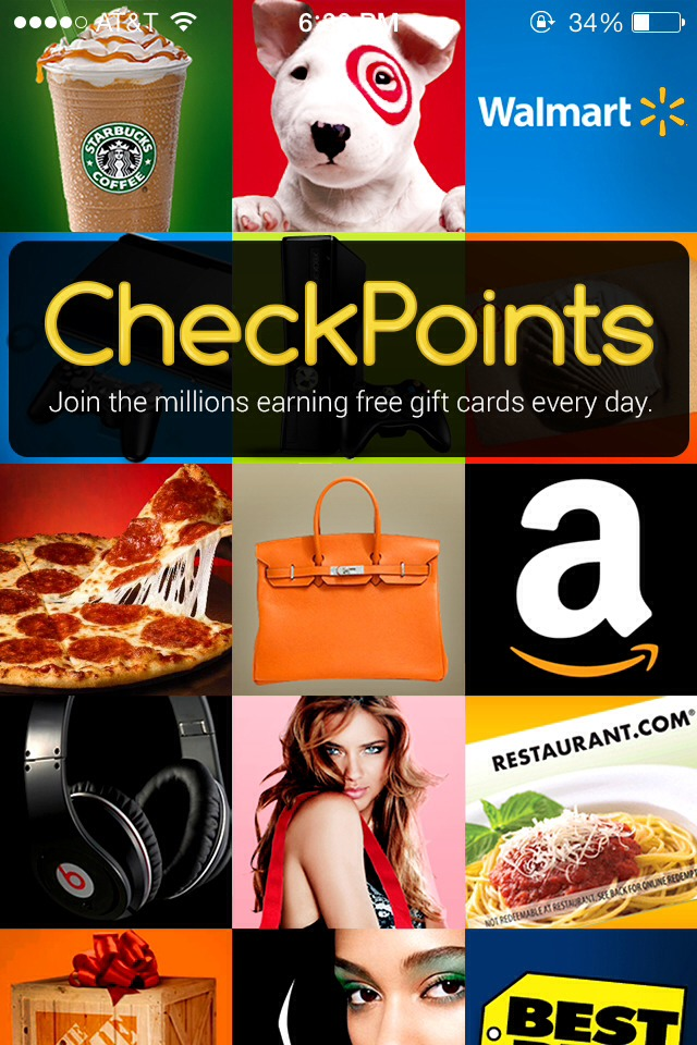 It's Check Points  It allows you to earn points and gift cards for stores you all ready attend.