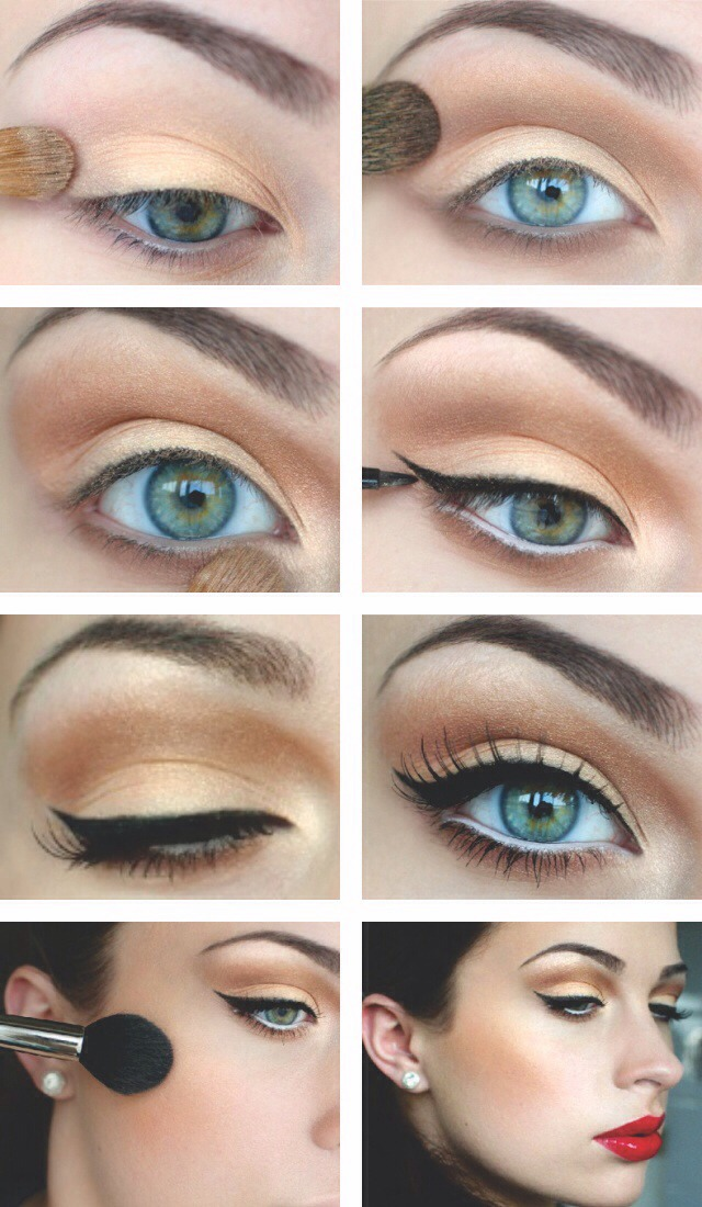 Follow these steps to get the perfect eyeliner line!