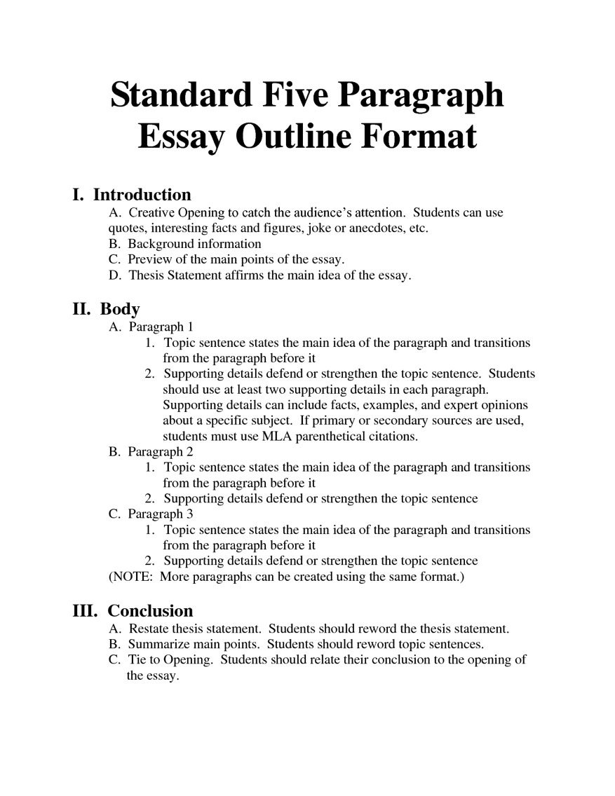 standard format for essay writing When writing a long research paper in mla writing format, it's best to make use of section headings as these will improve your paper's readability section headings could be individual chapters of a book or named parts of an essay.