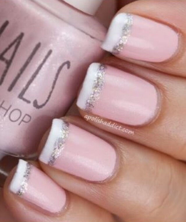 20. PALE PINK WITH WHITE TIPS