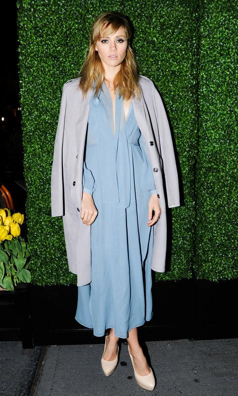 SUKI WATERHOUSE AT A BURBERRY DINNER IN MAY 2014