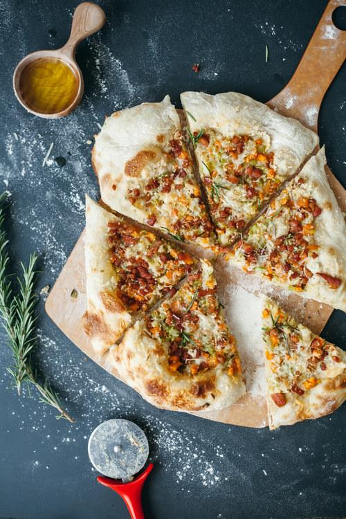 26. Cannellini and Soffritto Pizza with Pancetta and Parmesan
