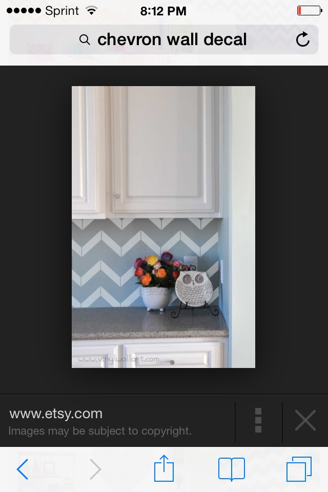 Cute idea to spice up the kitchen a little bit.