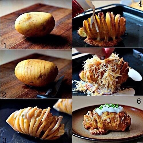 You may or may not have seen this before but potatoes are amazing and baking them with butter, cheese, etc. it's just perfect!