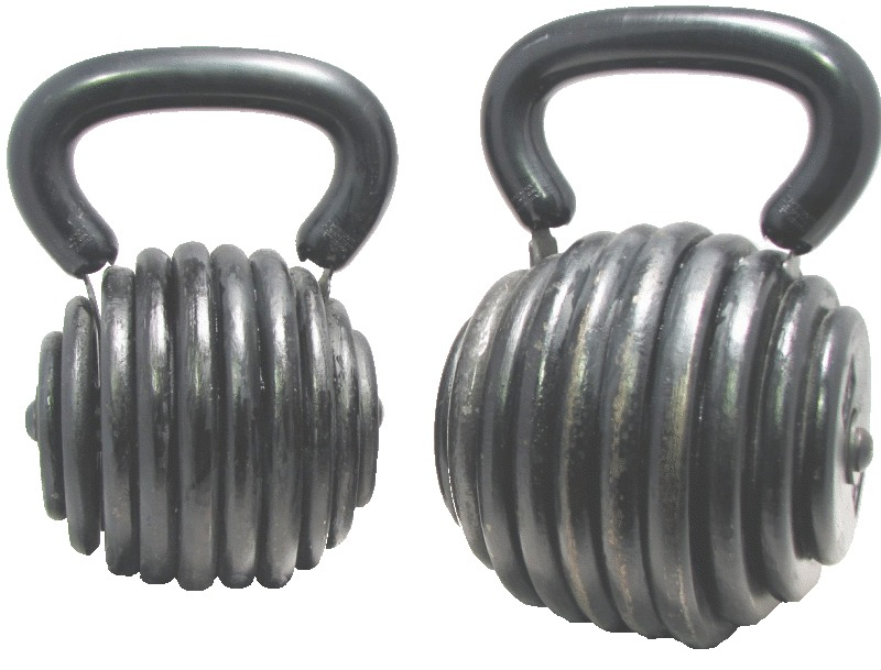 Exercising while holding kettle bells is the same as running at a 6 minute-a-mile pace on top of your workout.