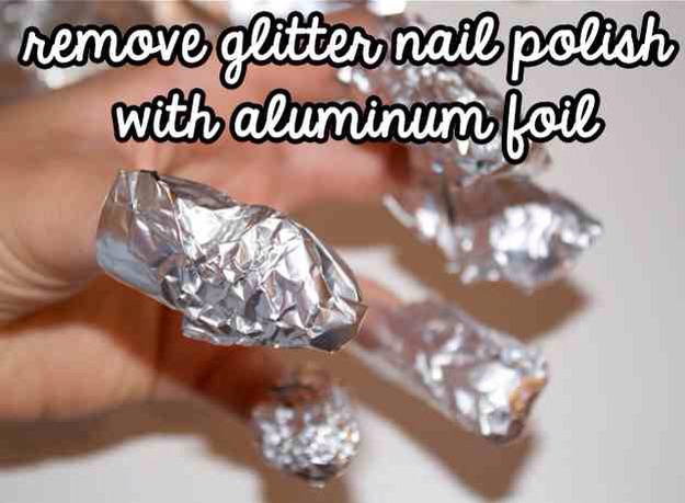 You don't need to go to a salon to get the glitter off your nails!