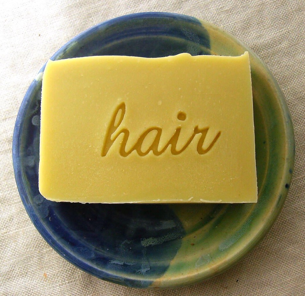 First up! Wet your hair and the bar, then run the bar through your hair a few times and scrub anyway!