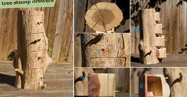 http://www.goodshomedesign.com/diy-tree-stump-drawers/
