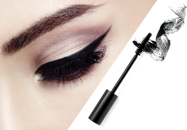 use a angled brush to gather mascara off the brush