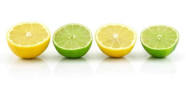 2.Cut one lemon and one line into four quarters!!!!