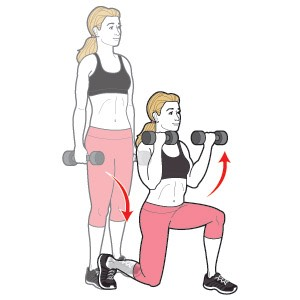 Walkng Lunge With Bicep Curl