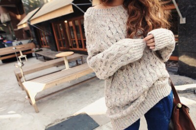 I'm also a huge fan of big/baggy sweaters. They look so cozy and so tumblr at the same time. However, don't buy them too big or else it may look foolish.