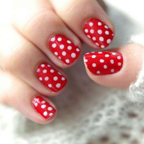 Polka Dots Paint your nails a base color try using a dotting tool,a bobby pin,or even a toothpick. Those are easy tools to replicate this design