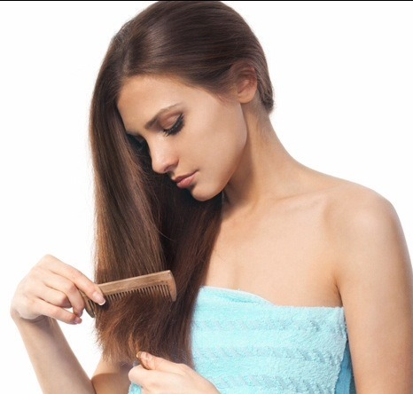 1. Brush hair free of tangles