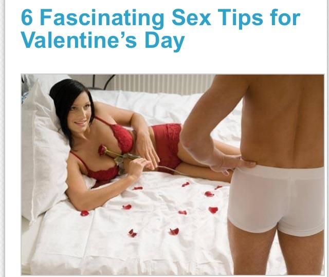 Valentine sex tips