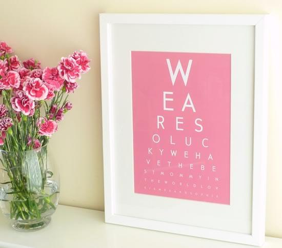 This is so easy to make!  Just print something like this off the internet and frame it.  It's that easy and it looks super nice.