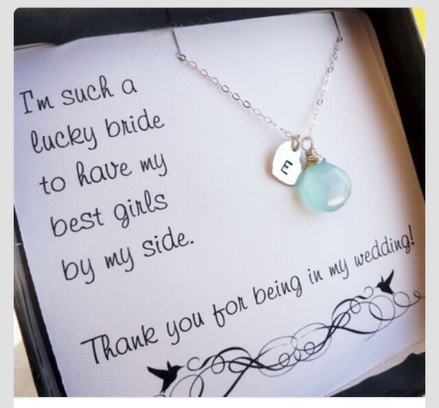 Bridesmaids thank you gifts.
