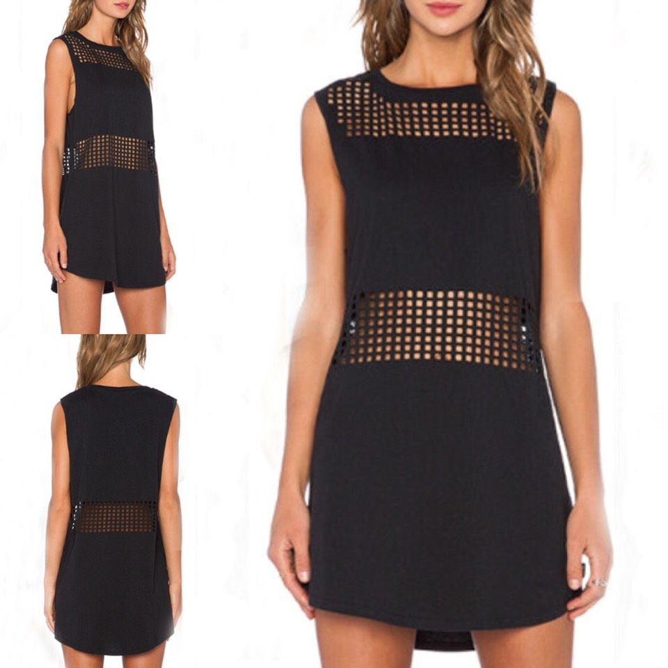 $13.99 http://m.romwe.com/Black-Sleeveless-Hollow-Dress-p-117811-cat-664.html