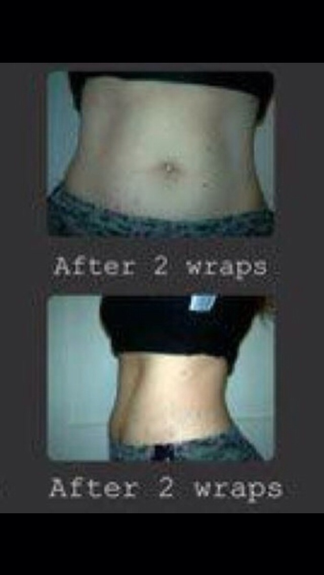 And even more inches off after two wraps!!!