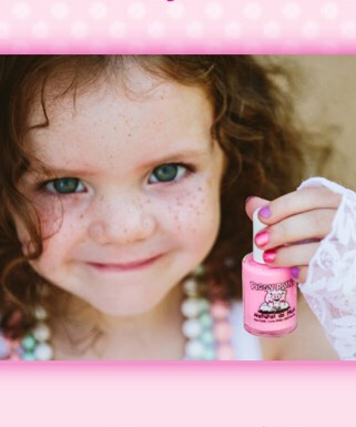 "Piggy Paint offers shades of colors sure to appeal to your little one – like pinks, reds, corals, and even blues, oranges, and greens. They don't smell like other traditional polishes, and work really well!   They are perfect for those little girl ""spa"" playdates, or just some mommy and me time."