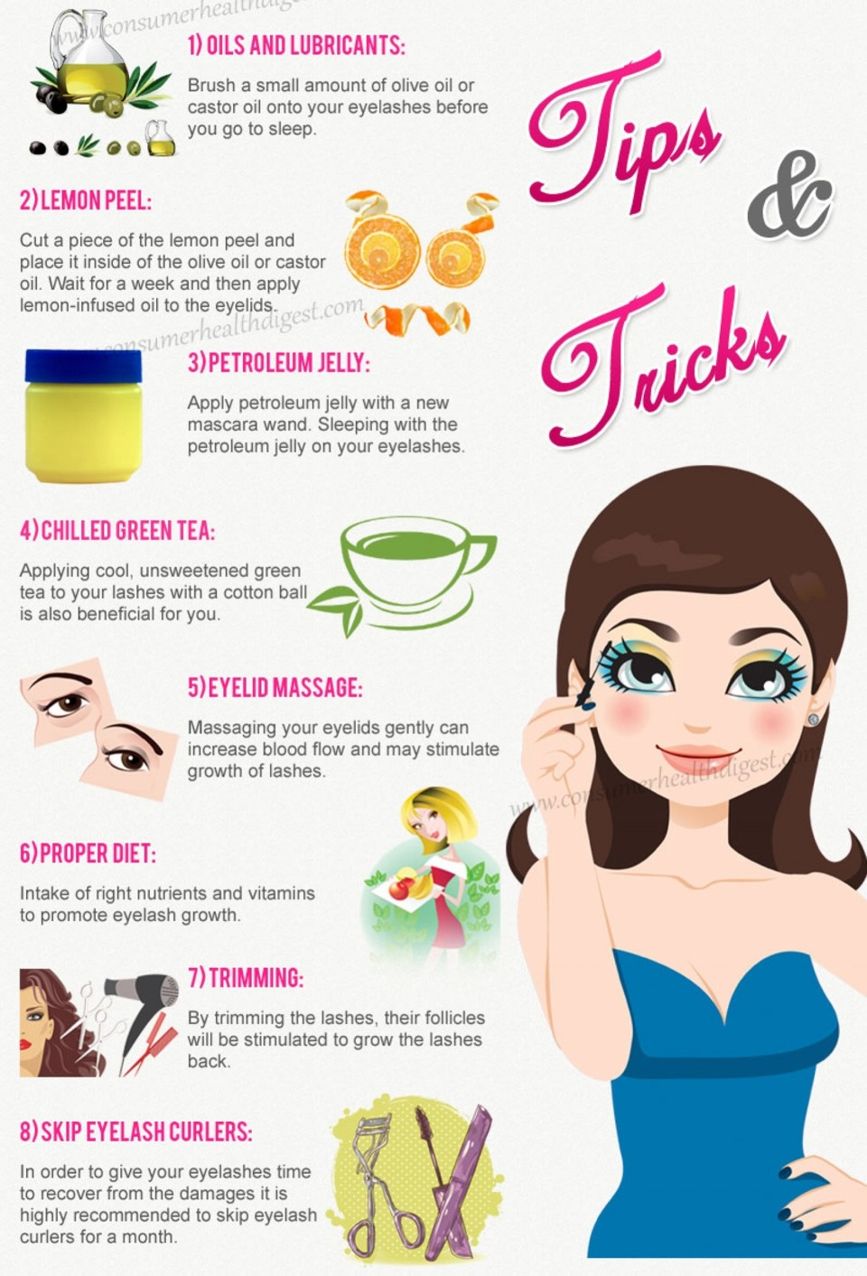 618d3c120c1 8 Beaty Tips And Tricks To Have Longer And Thicker Eyelashes. Pls Dont  Forget To Like :)