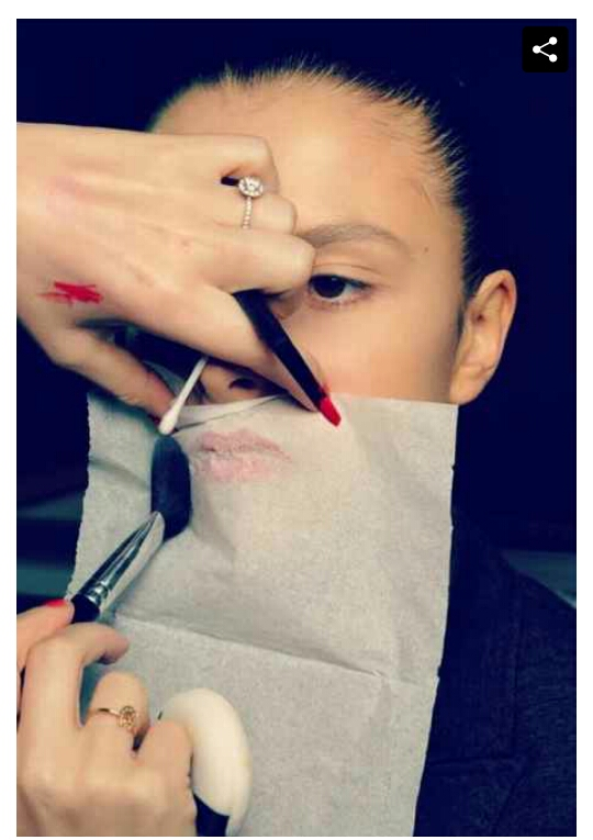 1. to make your lipstick last all day, hold a tissue over your lips and dust them with translucent powder.