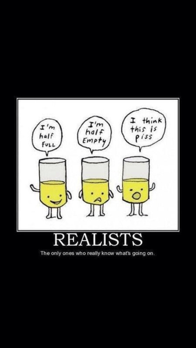 I'm definitely the realist. Which are you? :)