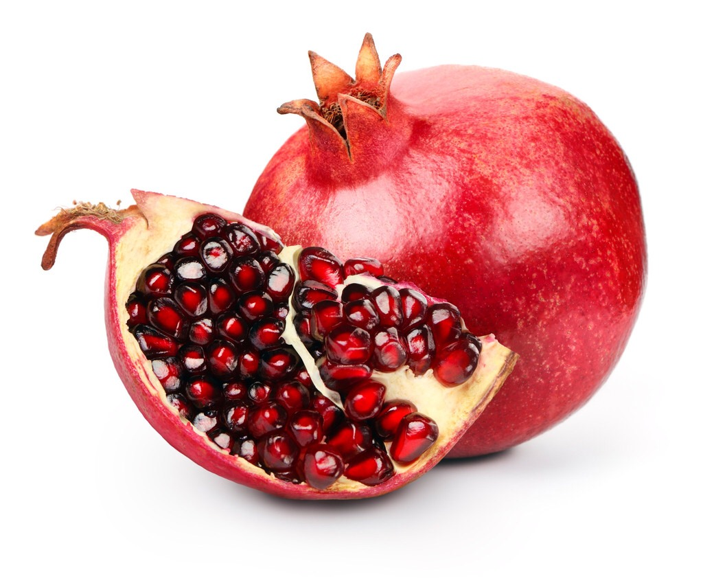 Pomegranate Pomegranates contain a host of wrinkle-reducing ingredients: Ellagic acid (a compound that fights free radical damage), punicalagin (a nutrient that has been linked to skin's collagen preservation), and vitamin C, which helps protect your skin against sun damage.