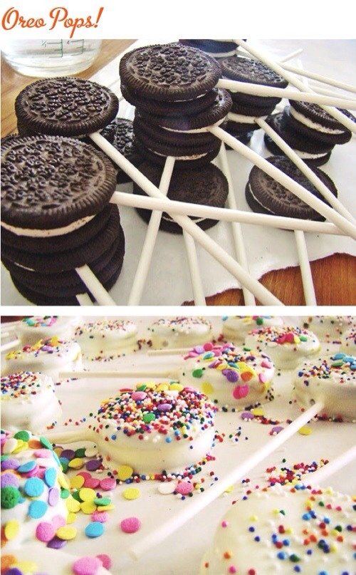 Regular Oreos with sticks makes them us much more classier