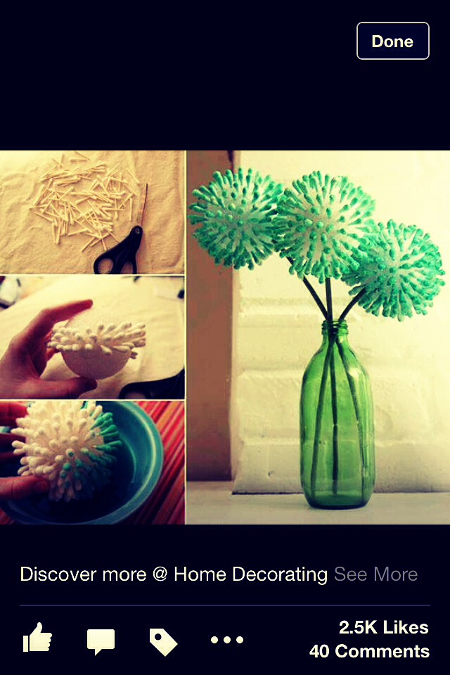 Use Q tip to make awesome flowers balls .. Steps are directed through pictures