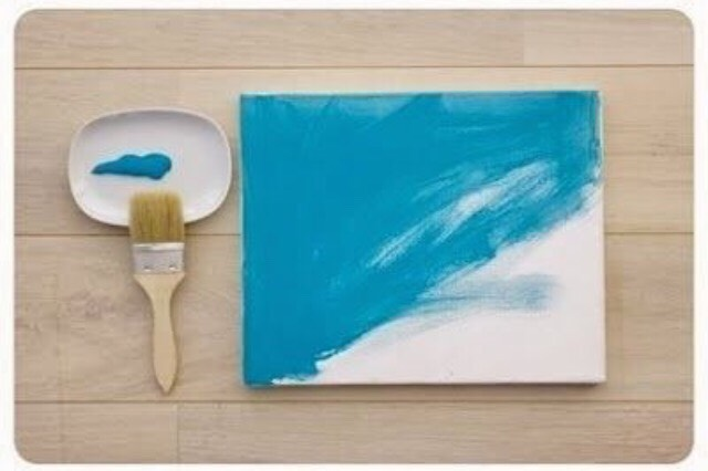 Paint Canvas with paint