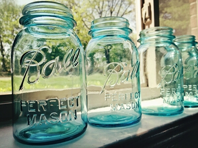 You will need quart-sized canning jars
